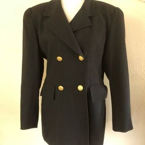 Vintage Christian Dior  Blazer with Gold Buttons